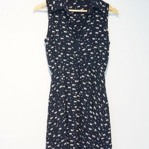 Vintage dress with cats